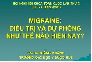 Migraine: Điều trị và dự phòng như thế nào hiện nay