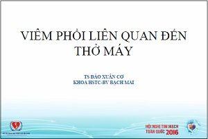 Viêm phổi liên quan đến thở máy