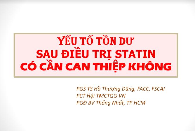 tồn dư statin