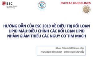 Hướng dẫn ESC 2019 về điều trị rối loạn lipid máu