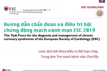 hướng dẫn chẩn đoán và điều trị hội chứng động mạch vành mạn ESC 2019
