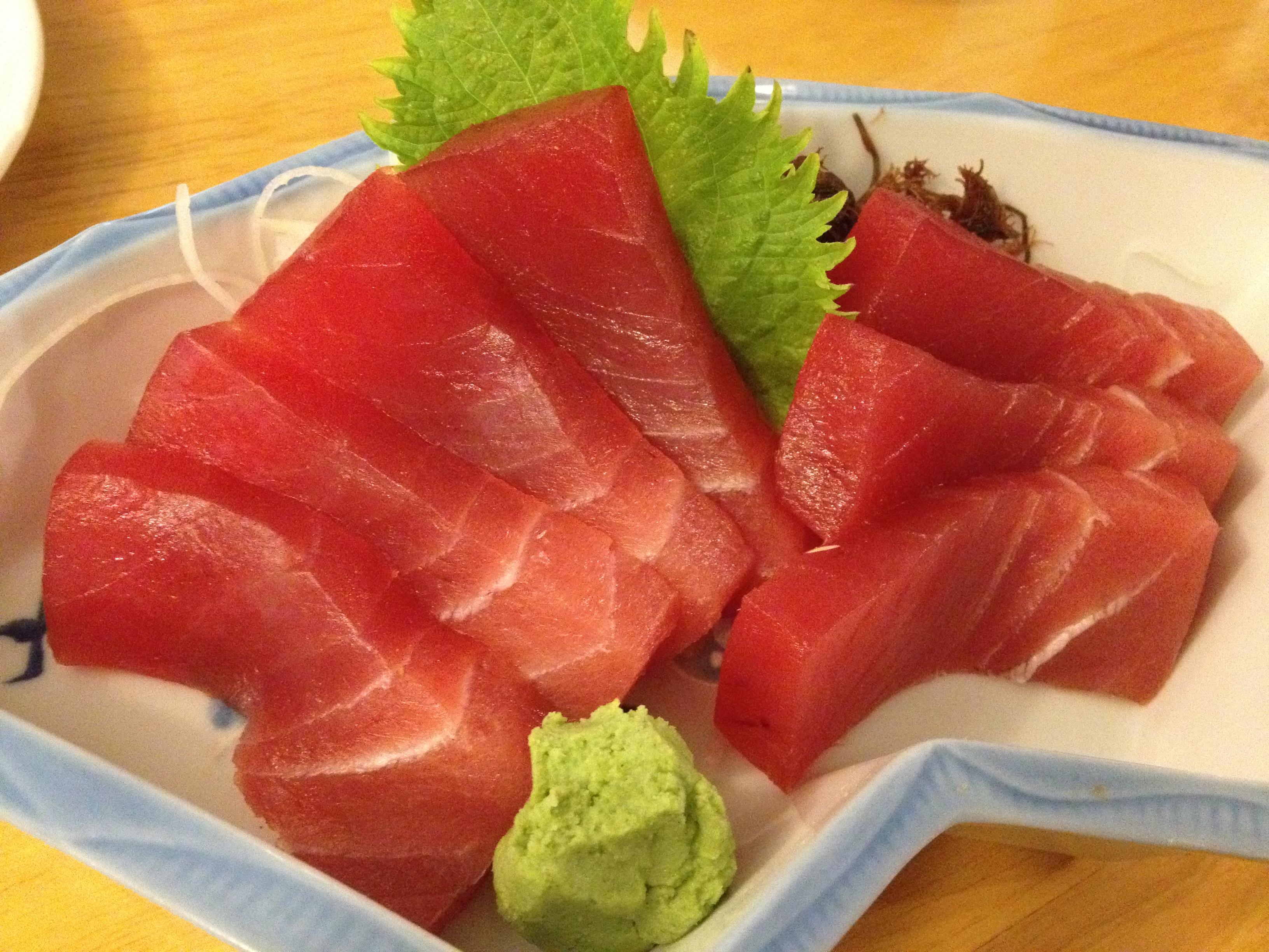 Wasabi ăn kèm Sashimi