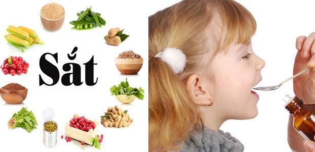Bổ sung sắt cho trẻ bằng chế độ dinh dưỡng (Ảnh internet)