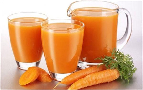 Nước ép cà rốt - thức uống mùa hè dành cho người bệnh tiểu đường
