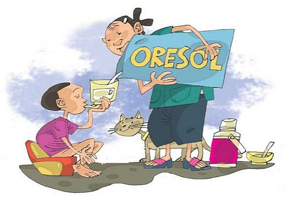 Bù nước và điện giải cho trẻ bị tiêu chảy cấp bằng Oresol
