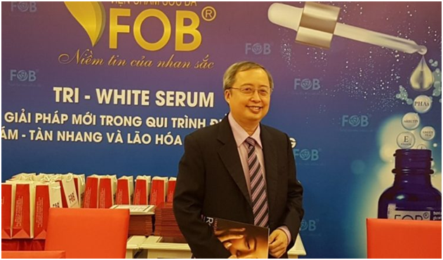 PGS.TS Huỳnh Văn Bá trong Hội thảo Giải pháp mới trong quy trình điều trị nám - tàn nhang và lão hóa da