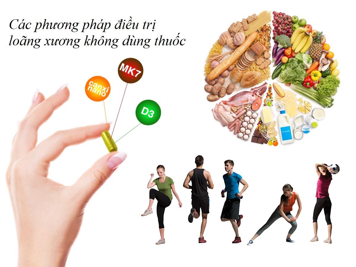 Chế độ ăn uống và tập luyện góp phần điều trị loãng xương