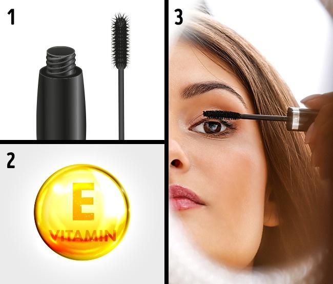 Sử dụng vitamin E để có lông mi cong và dài