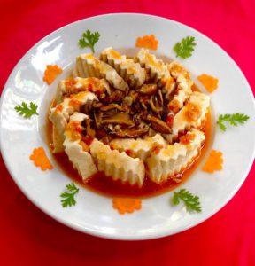 Đậu phụ sốt nấm - Món ngon với đậu (Ảnh Internet)