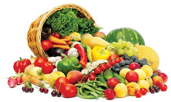 Ăn nhiều rau xanh và trái cây