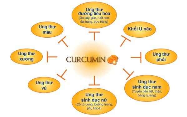 Curcumin có tác dụng rất tốt trong điều trị viêm loét dạ dày