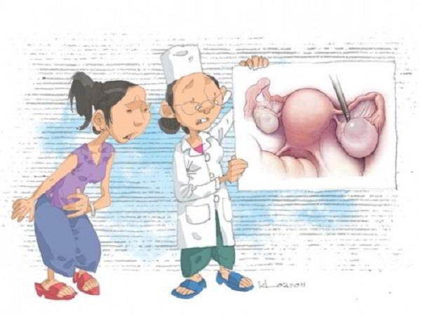 Người bị u nang buồng trứng có thai được không