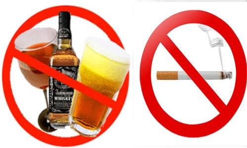 Hạn chế sử dụng rượu, bia, chất kích thích
