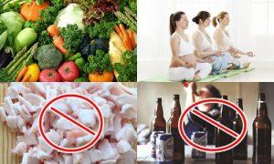 Thay đổi chế độ ăn uống, sinh hoạt giúp phòng ngừa gan nhiễm mỡ ở bà bầu