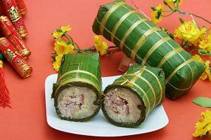Hình ảnh: Bánh tét truyền thống (Internet)