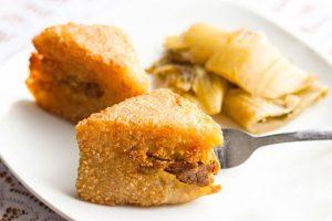 Bánh chưng rán vàng giòn hấp dẫn (nguồn internet)