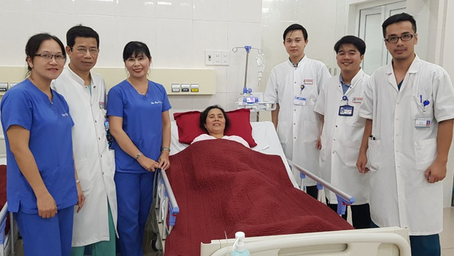 Bệnh nhân đã được phẫu thuật can thiệp thành công túi phình động mạch não (nguồn: Bv TW Huế)