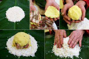 Các bước 2,3,4 khi tạo nhân bánh (nguồn intenet)