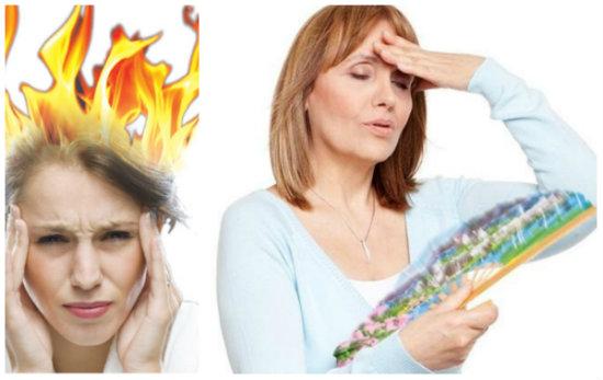 Hình ảnh: bốc hỏa ở phụ nữ tiền mãn kinh