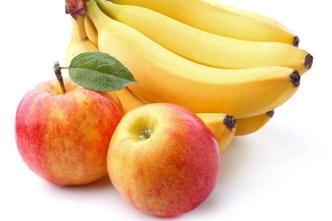 Các loại quả như táo và chuối rất tốt cho hệ tiêu hóa nói chung