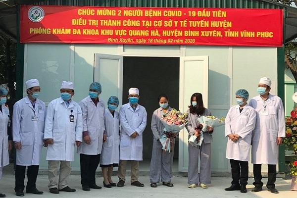 Hai bệnh nhân đầu tiên tại tuyến huyện điều trị khỏi COVID-19