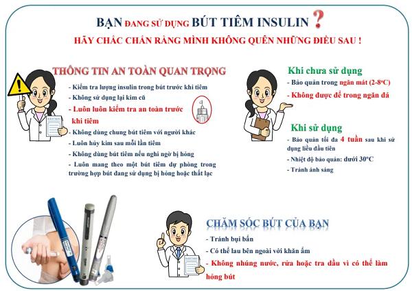 Lưu ý khi sử dụng bút tiêm insulin