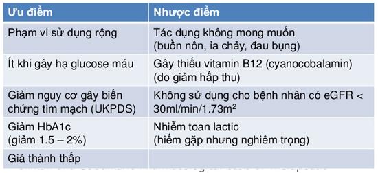 Phân tích ưu - nhược điểm của thuốc tiểu đường metformin