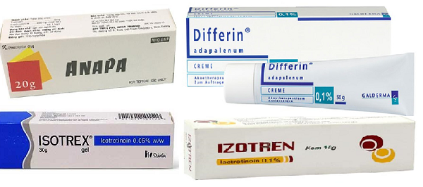 Retinoid được bác sĩ da liễu sử dụng để điều trị trứng cá ở các mức độ khác nhau