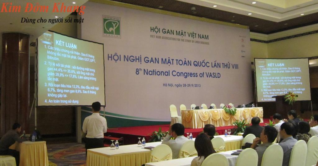 Nghiên cứu Kim Đởm Khang được báo cáo tại Hội nghị Gan mật toàn quốc