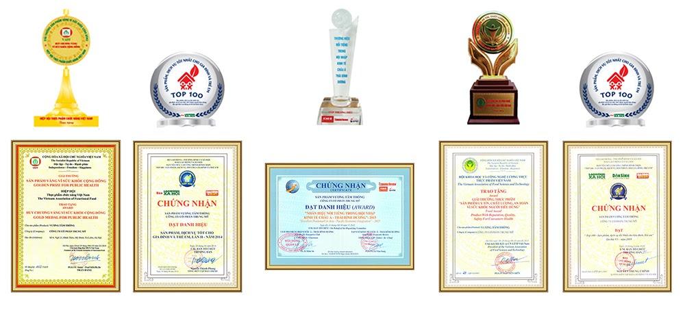 Vương Tâm Thống vinh dự nhận được nhiều giải thưởng danh giá