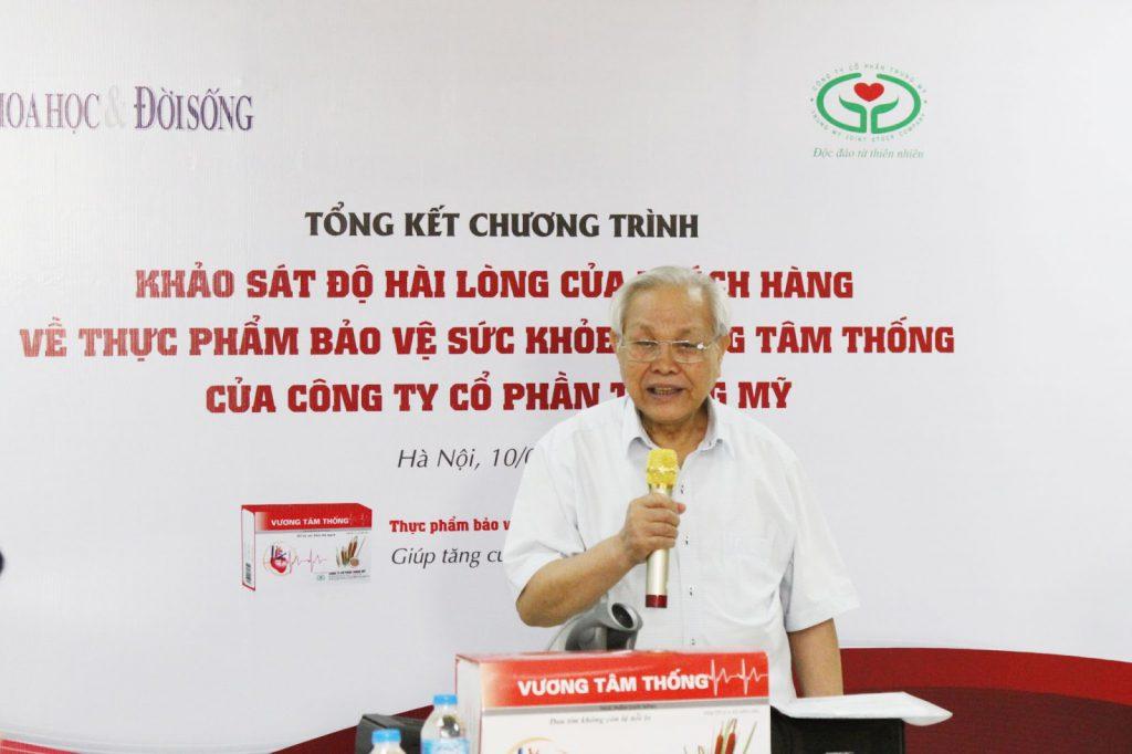 PGS.TS.BS. Trần Đình Ngạn phát biểu tại buổi tổng kết chương trình khảo sát