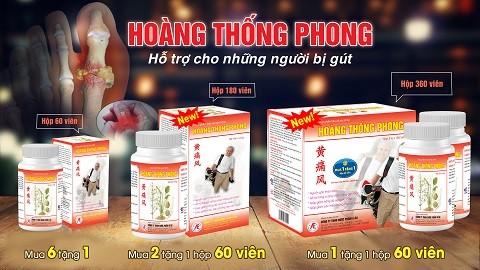 Sản phẩm thảo dược Hoàng Thống Phong có 3 dạng đóng gói với mức giá hợp lý từ 220.000-1.260.000 đồng