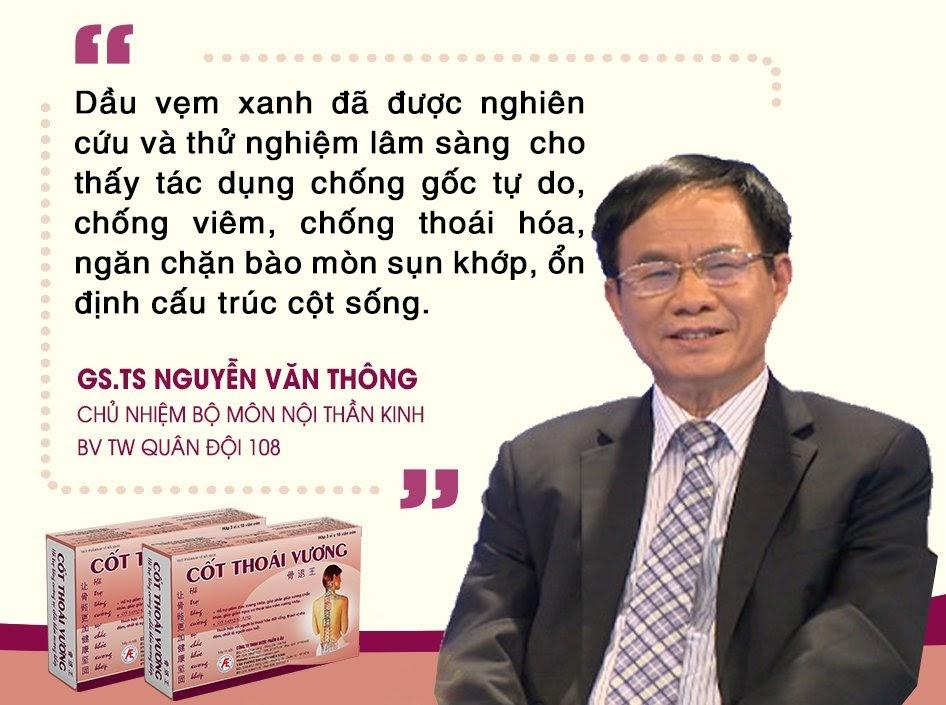 GS.TS Nguyễn Văn Thông đánh giá về tác dụng của dầu vẹm xanh