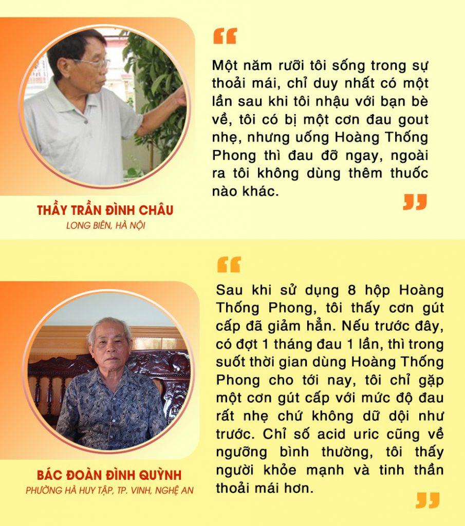 Nhiều người đã đẩy lùi cơn đau gout hiệu quả nhờ Hoàng Thống Phong